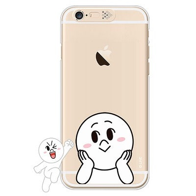 [SG DESIGN]iPhone6/ iPhone6 Plus 라인프렌즈 문 LIGHT UP Case-Gold(하드타입/라이팅)
