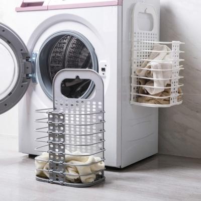 갓샵 접이식 벽걸이 빨래 바구니 공간활용 세탁물수납
