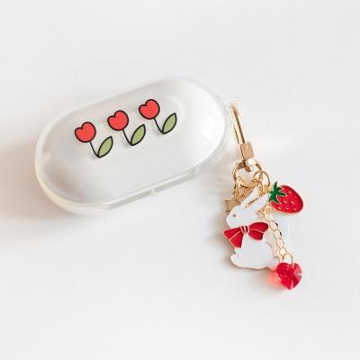 딸기 토끼 에어팟 버즈 키링