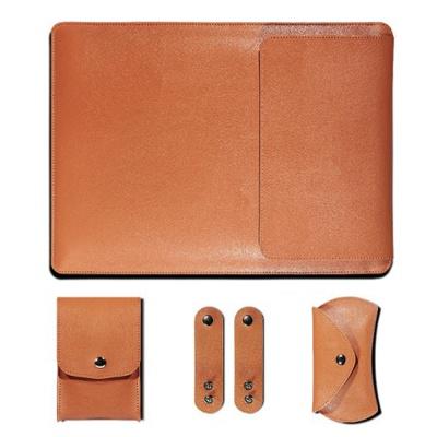 노트북 가죽 파우치(오렌지) (27x37cm)