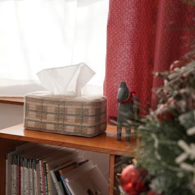 타탄체크 티슈 커버 만들기 - 코바늘 뜨개질 키트