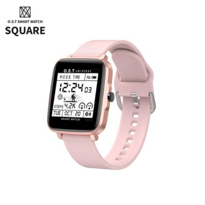 [오에스티] Smart Watch Square Pink