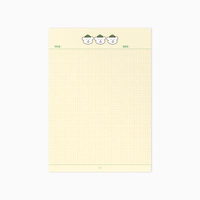[끙차] B5 양면 모눈 (바나나우유)
