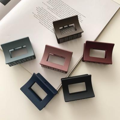 무광 정사각형 헤어 집게핀 6color