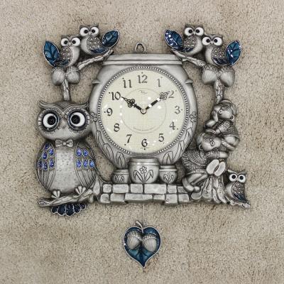(kspz361)짝 부엉이 시계 주석