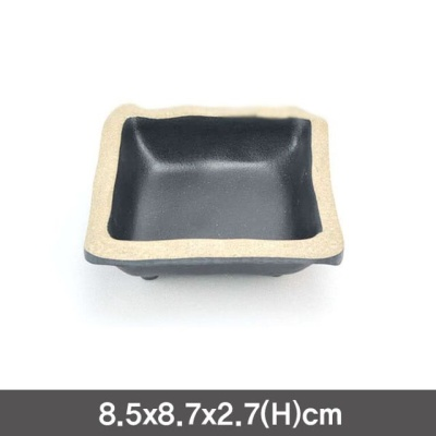 멜라민 앤틱블랙 사각초장 소스그릇