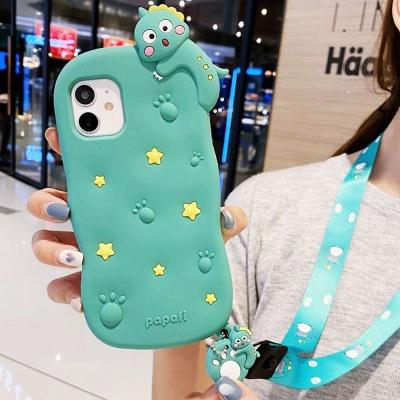 아이폰12 pro max 프로 공룡 핸드폰줄 핸드폰 케이스