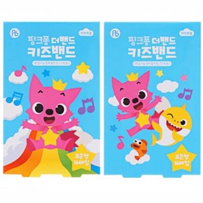 핑크퐁 더밴드 키즈밴드 16매입 (표준형)랜덤발송