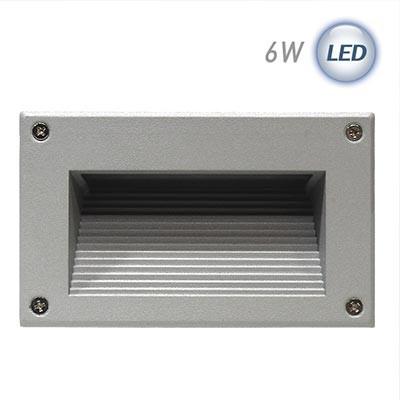 LED 사각 계단매입 6W (그레이)