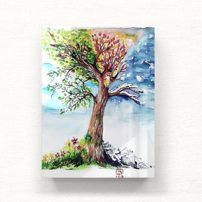 에센스다 4계절나무 대형 아크릴액자  by 이그린(271354)
