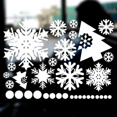 눈꽃스티커(001) - 크리스마스스티커(M사이즈)