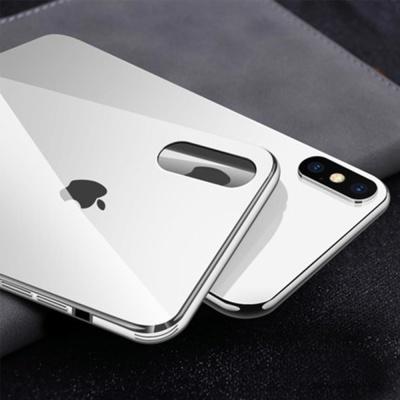 아이폰XR 슬림핏 컬러 강화유리 글라스 핸드폰 케이스