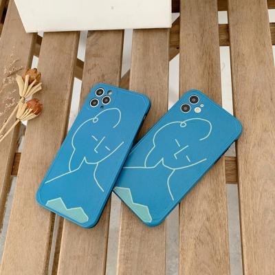 아이폰11 PRO SE2 8 7 XS 슬림 드로잉 실리콘 케이스