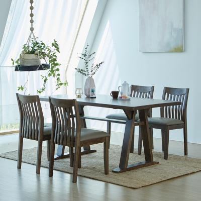 [리비니아]카이 제노 고무나무원목 4인용 식탁세트