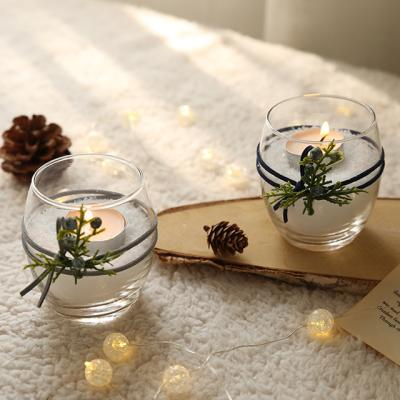 겨울편백 티라이트 촛대 (1+1) (티라이트 2개포함)