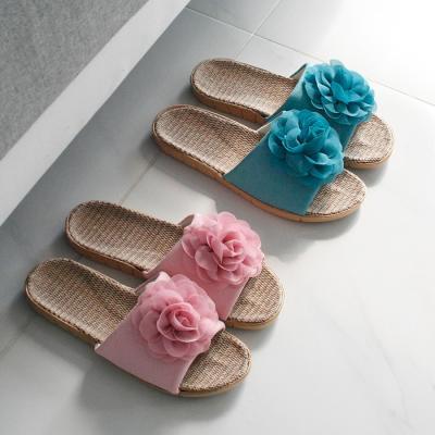 장미코사지 슬리퍼 - 2color