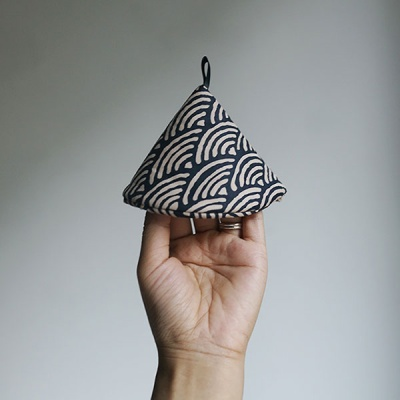 패브릭 꼬깔 냄비뚜껑 손잡이