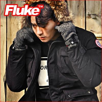 [플루크 패딩] 히말라야 리얼라쿤 다운야상 패딩 점퍼 블랙 FPJ1507-BLACK FLUKE 15FW
