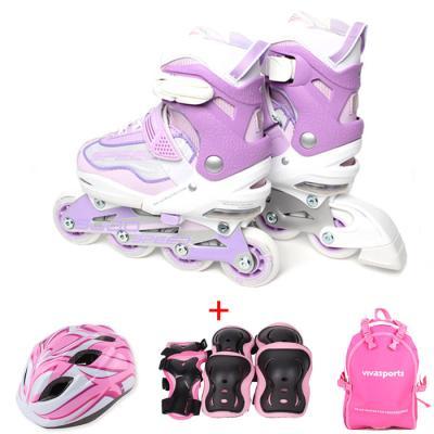 비바스피드 인라인9000 풀셋 핑크 헬멧+보호대+가방