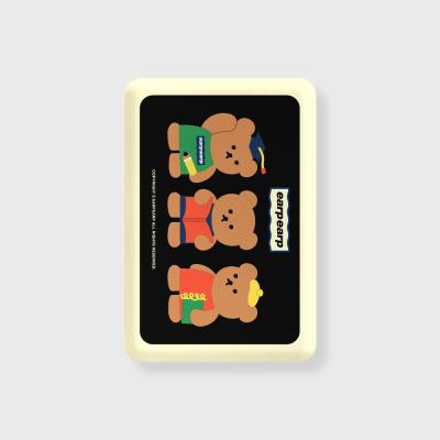 Smart bear friends-black(무선충전보조배터리)