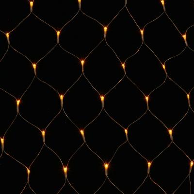 [은하수] 200구 투명선 LED 그물네트 웜색 지니전구(1