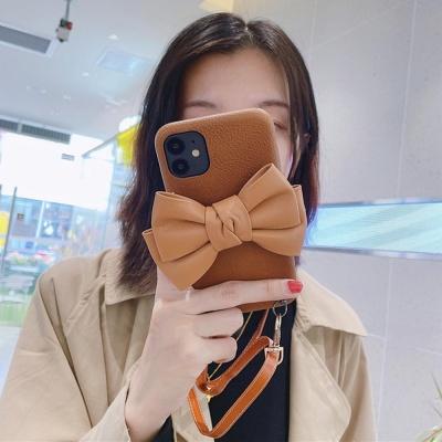 아이폰12 PRO MAX 11 SE2 8 리본 가죽 스트랩 케이스