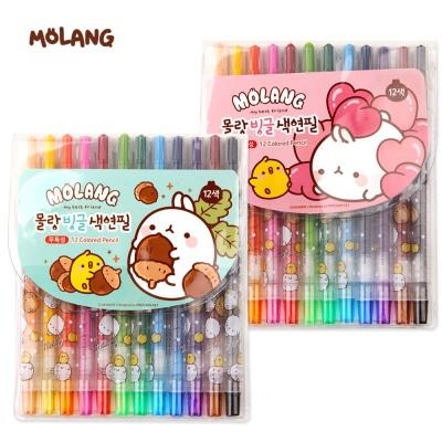 팝콘 몰랑 빙글 색연필 12색 (랜덤1개)