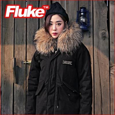 [플루크 패딩] 리얼라쿤 에스파놀라 야상 패딩 점퍼 블랙 FPJ1523-BLACK FLUKE 15FW