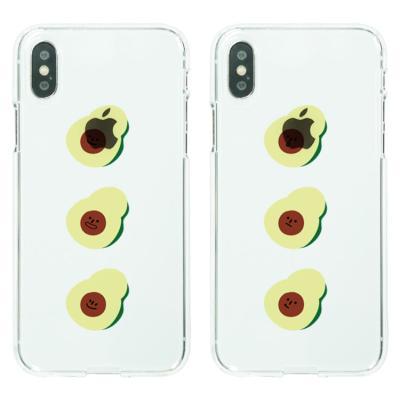 아이폰8케이스 아보카도 3형제 소프트젤리케이스