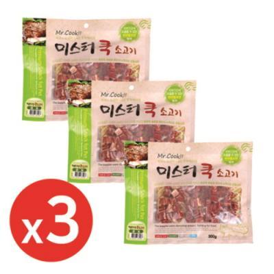 미스터쿡300g 소고기큐브 x3개 강아지간식