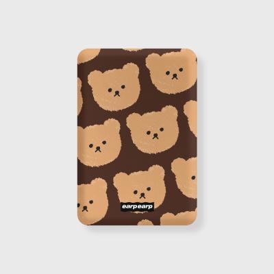 Dot big bear-brown(무선충전보조배터리)