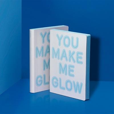 그래픽 노트 라지 - YOU MAKE ME GLOW (야광 커버)