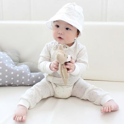 [메르베] 봄날의곰 신생아 바디슈트/북유럽아기옷_간절기용