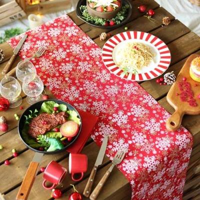 크리스마스 테이블 러너 (설정) 레드