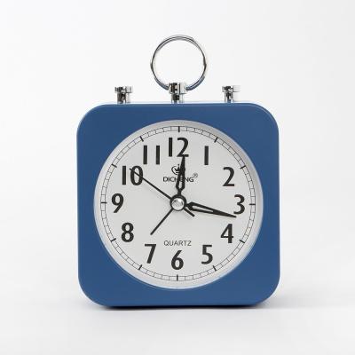 퀴리 사각 알람 탁상시계(블루)