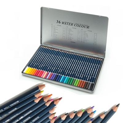문화 36색 수채화 틴 색연필