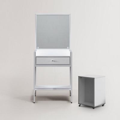 힐디 스틸 심플 화장대+의자 세트 (착불)