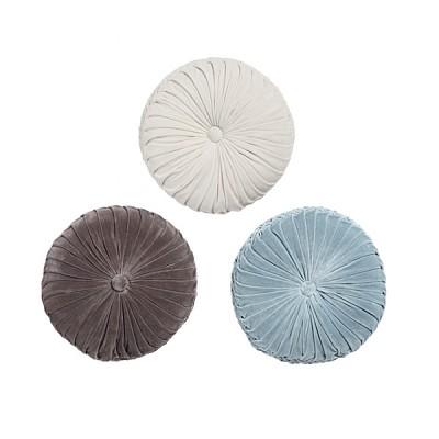 [Hubsch]Round velour pillow w/weaving 쿠션