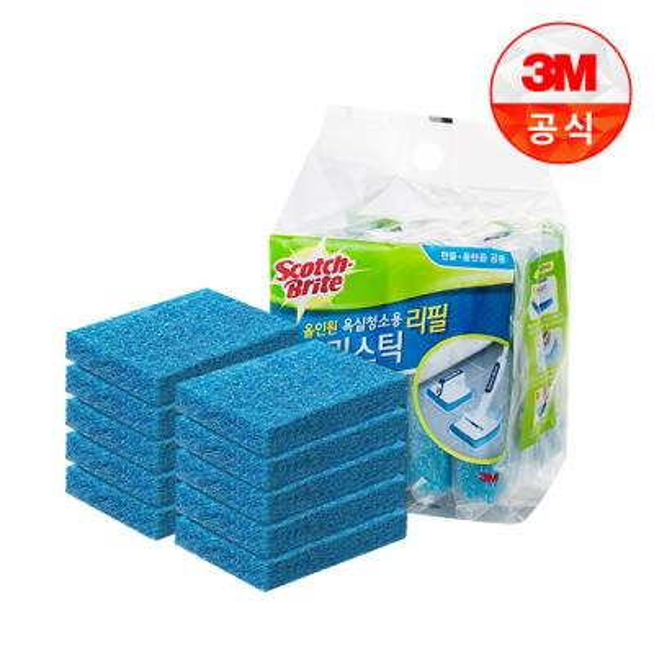 [3M]크린스틱 뉴올인원 욕실청소용 리필10입