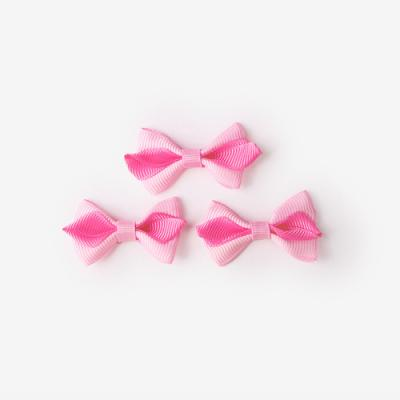 핑크 투톤 완성리본 미니 (10개)
