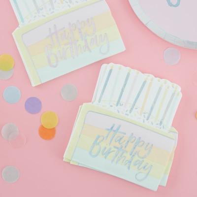 파스텔 생일 케이크 종이 냅킨