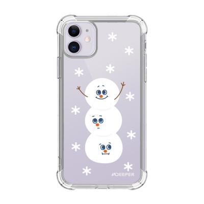 뮤즈캔 ADEEPER 아이폰 11 눈사람 스티커 케이스