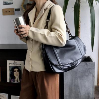 파이리 여성 체인 스트랩 가죽 크로스백