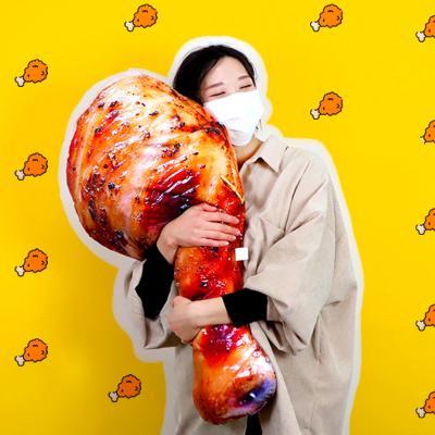 치킨 인형 닭다리 쿠션 90cm 바디필로우 베개