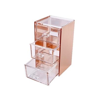 핑크박스 화장품 정리함 13 소형 로즈골드 color