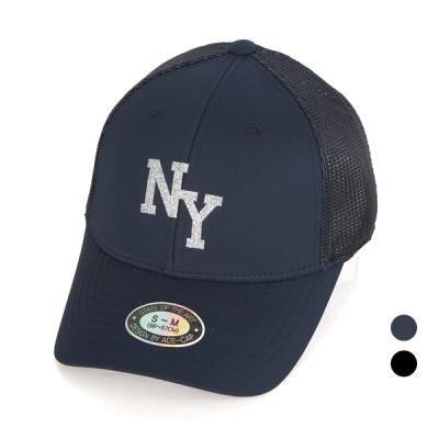 [디꾸보]글리터 NY 투 사이즈 메쉬 볼캡 모자 AC612