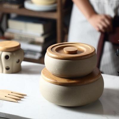 온나 도자기 항아리 조미료통 양념통
