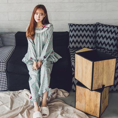 [쿠비카]면 레이스 부케 플라워 투피스 여성잠옷 W127