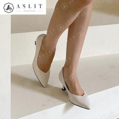 [애슬릿]데일리 여성 스틸레토 미들 힐 구두 5.5cm
