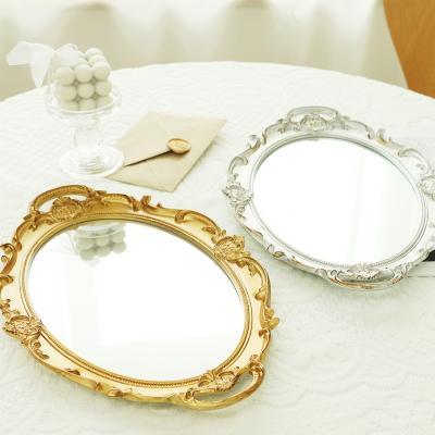 빈티지 프렌치 엔틱 쟁반 미러 거울 트레이 2color